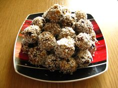Dried fruit balls with oatmeal. Tasty and healthy :)