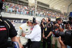 Kimi Raikkonen with Bernie Ecclestone - Bahrain GP 22nd April 2012 #formula1 #f1 #shakir