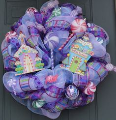 Whimsical Santa's Sweets Christmas Wreath by EverWreath on Etsy, $125.00