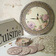 "Купить Часы настенные кухонные ""Mon jardin"" - часы, часы настенные, часы интерьерные"