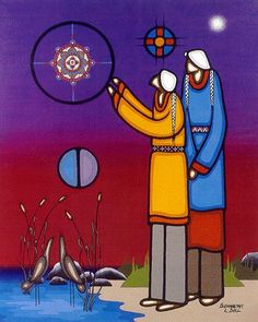 Discovering Wisdom by Leland Bell kK Native American Photos, Native American Artists, Canadian Artists, Native Indian, Native Art, Kunst Der Aborigines, Painted Skulls, Indian Artwork, Indian Pictures