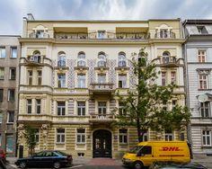 The apartment house on Wilcza street, downtown Warsaw, Poland