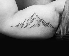 Dotted Lined Hill Tattoo Guys Inner Biceps