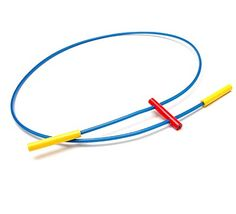 JULIA MANHEIM (1949) - Necklace of blue plastic with red and yellow, design & execution 1980, England