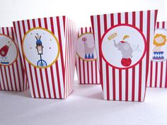 Circus Party Kit ~ Treat Boxes Party Kit, Party Ideas, Circus Party, Winter Wonderland, Boxes, Prints, Kids, Party, Young Children