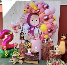 Bear Birthday, Baby 1st Birthday, Birthday Decorations, Birthday Party Themes, Marsha And The Bear, Bear Party, Ideas Para Fiestas, Princess Party, Christmas Crafts