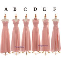 Coral Bridesmaid Dress Long Bridesmaid Dress by Promgirlsdress, $99.00