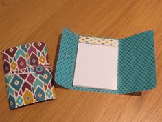 Pocket notebook tutorial including handmaking the notebook using Bohemian DSP from Stampin' Up