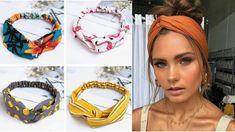 Turban Headband Tutorial, Turban Headbands, Making Hair Bows, Diy Hair Bows, Sewing Patterns Free, Sewing Tutorials, Diy Angel Wings, Small Sewing Projects, Creation Couture