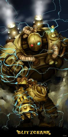 Blitzcrank; wouldn't you want to get pulled by this badass? ;D