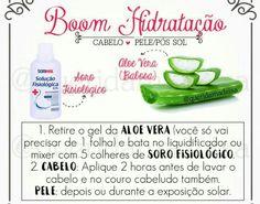 Hidratação caseira Bonde Hair, Hair Hacks, Hair Tips, Dry Hair, Diy Hairstyles, Aloe Vera, Curly Hair Styles, Hair Care, Beauty Hacks