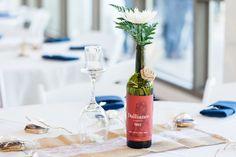 Reception Decor Wine Bottle Vase Burlap Table Runner | Lakeside-Pavilion-Wedding-Photographer-Chico-Wedding-Photography-TréCreative
