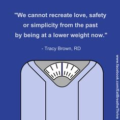 Weighing less now will erase problems from our past