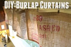 DIY: No Sew Burlap Curtains
