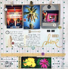 Let the sun shine - DT Kreativ Scrapping Sun Shine, Studio Calico, Shinee, Mini Albums, Scrapbook Layouts, Scrapbooking, Paper Crafts, Let It Be, Create