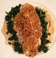 Call Me Mrs. Rapp: Tilapia with Toasted Basil Butter Breadcrumbs