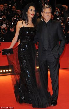 Amal Clooney steals husband George's spotlight at Berlin Film Festival 2016 | Daily Mail Online