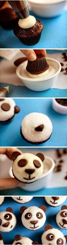 EASY LITTLE PANDAS CHOCOLATE CUPCAKES