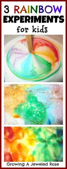 Bath Activities for Kids: Rainbow Science for Kids
