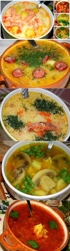 Eastern European Recipes, Russian Recipes, Cheeseburger Chowder, Thai Red Curry, Recipies, Food And Drink, Cooking Recipes, Ethnic Recipes, Soups