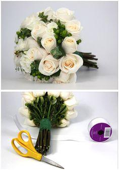 How to make a bouquet sleeve! #bravobride.com #bloomsbythebox