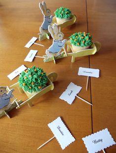 Peter rabbit cupcake nametags