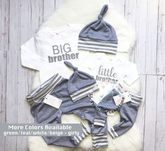 543f873a752d Big Brother Little Brother Outfits Coming Home Outfit Newborn Outfit Baby  Boy Outfit grey Stripe Outfits Sibling Outfits Any Color