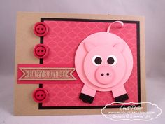 Stampin Up Punch Art | Punch Art: Pig and SNEAK PEAK Sketched Birthday | Andi Potler ...