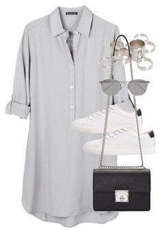 """""""Untitled #2300"""" by marianam97 ❤ liked on Polyvore featuring United by Blue, MANGO, ASOS, Dolce&Gabbana and Linda Farrow"""