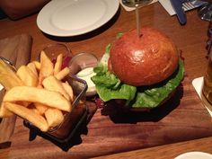 hamburger at Bavarian Bier Cafe in Sydney ハンバーガー