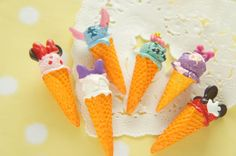 6 pcs 3D Kawaii Ice Cream Cone Cabochon 13-15mm by Candydecoholic