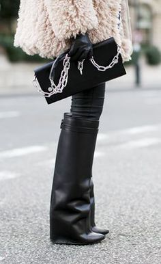 GIVENCHY boots  ACNE bag