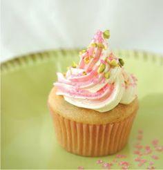 Vegan Pistachio Rosewater Cupcakes - Recipe