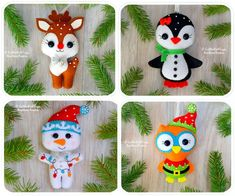 Items similar to Christmas ornaments Set of 18 Cute felt Christmas decorations Christmas tree toys Christmas favors New Year's home decor Christmas gifts on Etsy Christmas Tree Advent Calendar, Home Decor Christmas Gifts, Felt Christmas Decorations, Felt Christmas Ornaments, Christmas Crafts, Xmas, Holiday Decor, Felt Baby, Felt Dolls