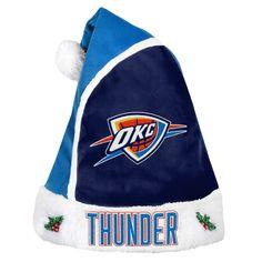 Oklahoma City Thunder Basic Santa Hat - 2015
