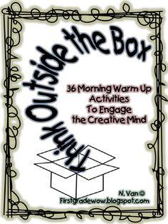 Think Outside the Box Thursday Class Meetings, Morning Meetings, Morning Work, Morning Meeting Activities, Art Activities, Children Activities, Autistic Children, Responsive Classroom, Teaching Skills