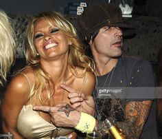 Pamela Anderson and Tommy Lee during Rokbar Hollywood Launch Party - Inside at Rokbar in Los Angeles, California, United States.