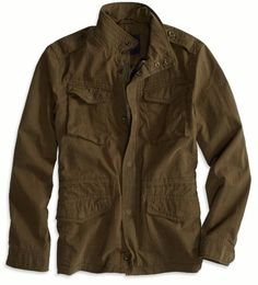 NEW American Eagle AE Mens Military Jacket Olive Green - L or XXL #AmericanEagleOutfitters #Military