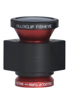 """The Olloclip — """"This has three different lenses for the iPhone 4 or 4S camera, so now you can shoot up close, go wide, or get crazy images with the fisheye lens."""""""