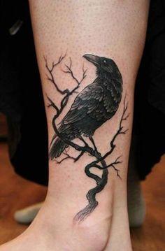 raben tattoo, wikinger tattoo, tattoo rabe