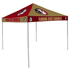 Florida State Seminoles NCAA 9' x 9' Checkerboard Color Pop-Up Tailgate Canopy Tent