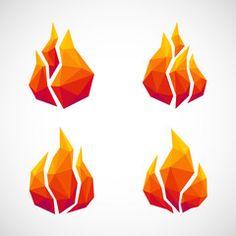 Low Poly, Honey Logo, Fire Vector, Polygon Art, Fire Art, Watercolor Wallpaper, Abstract Logo, Monster Art, Geometric Lines