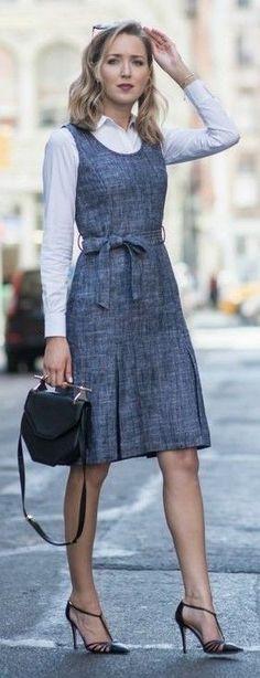#street #fashion |White And Grey Elegant Business Outfit Idea |Memorandum