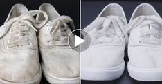 how to whiten sneakers White Sneakers, Adidas Sneakers, High Top Sneakers, Outfits With Converse, Laundry Hacks, Clean Shoes, Diy Cleaners, Adidas Stan Smith, Whitening