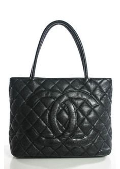 d8abd086b4ec CHANEL Black Caviar Leather Gold Tone Quilted Double Handle Tote Handbag  EVHB #handle #double #tote #handbag #evhb #quilted #tone #black #caviar  #leather ...