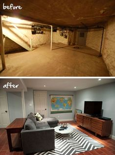 Embrace your basement! It's a extra set of space for your home. Take a look at this beautiful basement makeover!