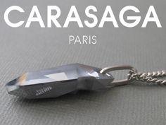 Collier Light Crome en cristal Swarovski®. Pendentif signé Jean-Paul Gaultier