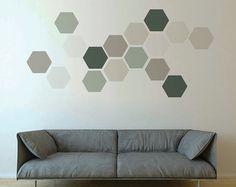 Art mural amovible géométriques, fond d'écran comme tissu autocollants, des formes géométriques amovibles neutres, petites et grandes tailles.