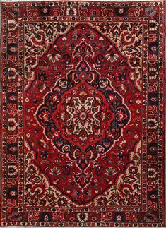 "Buy Bakhtiari Persian Rug 8' 6""  x 11' 8"", Authentic Bakhtiari Handmade Rug"