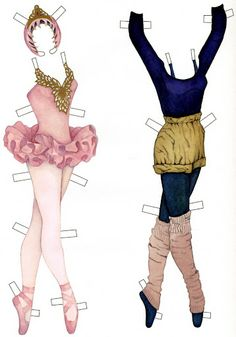 Gabi's Paper Dolls: Sabrina the Prima Ballerina * For lots of free Christmas paper dolls International Paper Doll Society #ArielleGabriel artist #ArtrA thanks to Pinterest paper doll & holiday collectors for sharing *
